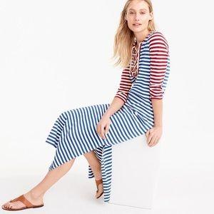 J. Crew Striped Lace-Up Dress
